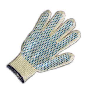 Перчатки ХБ белые с ПВХ